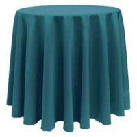 Basic 108-Inch Round Tablecloth in Teal