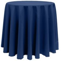 Basic 108-Inch Round Tablecloth in Navy