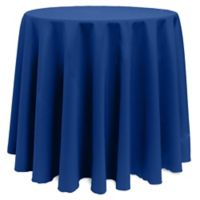 Basic 108-Inch Round Tablecloth in Royal