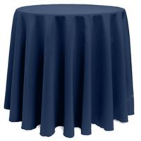 Basic 108-Inch Round Tablecloth in Midnight