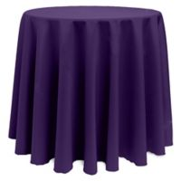 Basic 108-Inch Round Tablecloth in Purple