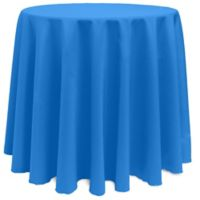 Basic 108-Inch Round Tablecloth in Cobalt