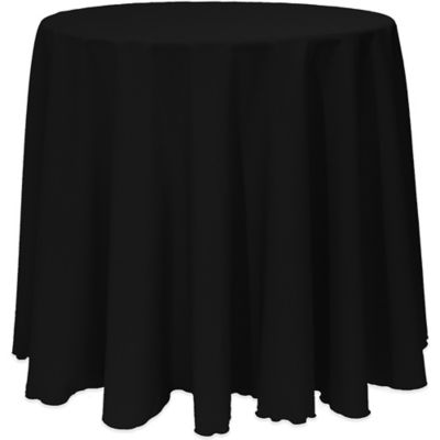 Basic 120 Inch Round Tablecloth In Black