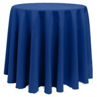 Basic 120-Inch Round Tablecloth in Royal