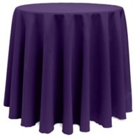 Basic 120-Inch Round Tablecloth in Purple