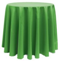 Basic 120-Inch Round Tablecloth in Kelly