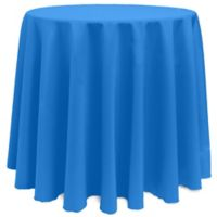 Basic 120-Inch Round Tablecloth in Cobalt