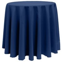 Basic 120-Inch Round Tablecloth in Navy