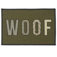 Petrageous® Woof Tapestry Placemat in Olive/Black