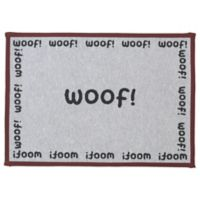 Petrageous® Woof Tapestry Placemat in Natural/Black