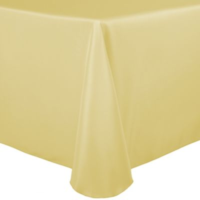 Merveilleux Basic Polyester 72 Inch X 108 Inch Oblong Tablecloth In Honey