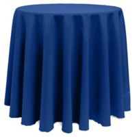 Basic 132-Inch Round Tablecloth in Royal