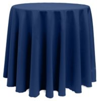Basic 132-Inch Round Tablecloth in Navy