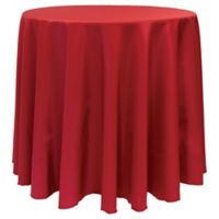 Basic 132-Inch Round Tablecloth in Holiday Red