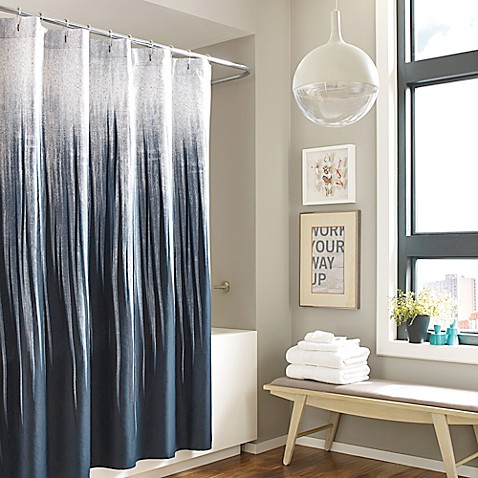kenneth cole horizon cotton shower curtain bed bath beyond. Black Bedroom Furniture Sets. Home Design Ideas