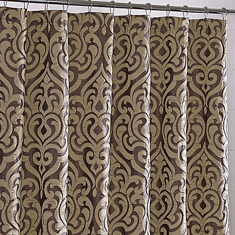 J.Queen New York™ Luxembourg Fabric Shower Curtain - Bed Bath & Beyond