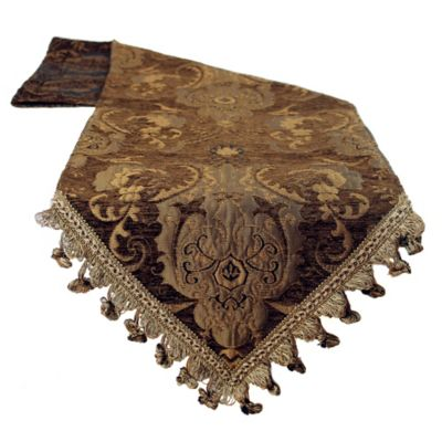 Superbe Sherry Kline China Art 13 Inch X 72 Inch Table Runner In Brown