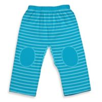 i play.® Brights Size 24M Organic Cotton Yoga Pants in Aqua Stripe