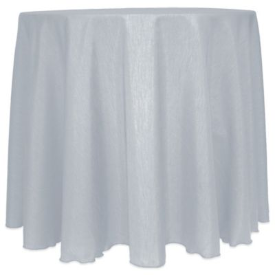 Majestic Satin Finished 90 Inch Round Tablecloth In Silver