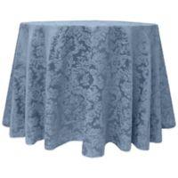 Miranda Damask 132-Inch Round Tablecloth in Slate Blue