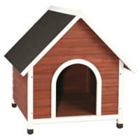 Trixie Large Nantucket Dog House in Brown/White