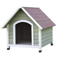 Trixie Medium Nantucket Dog House in Grey/White