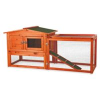 Trixie Natura Extra-Small 2-Story Small Animal Hutch in Brown with Outdoor Run