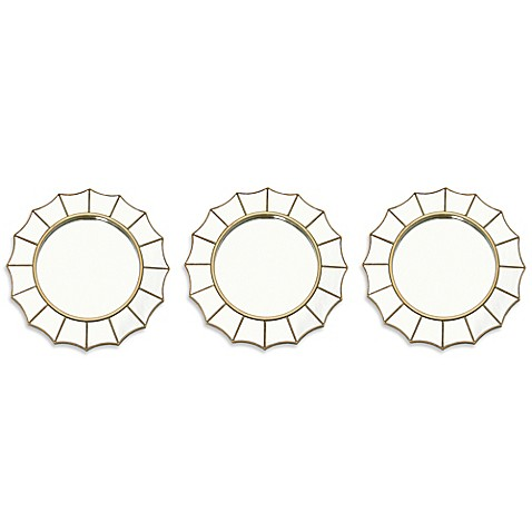 sunburst gold decorative mirrors set of 3 bed bath beyond. Black Bedroom Furniture Sets. Home Design Ideas