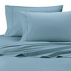 Ultimate Percale Cotton Queen Sheet Set in Ocean Blue