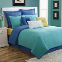 Fiesta® Dash Pic Stitch Twin Quilt Set in Turquoise