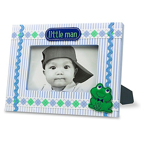 Ad Sutton Quot Little Man Quot Photo Frame In Blue Green Buybuy Baby