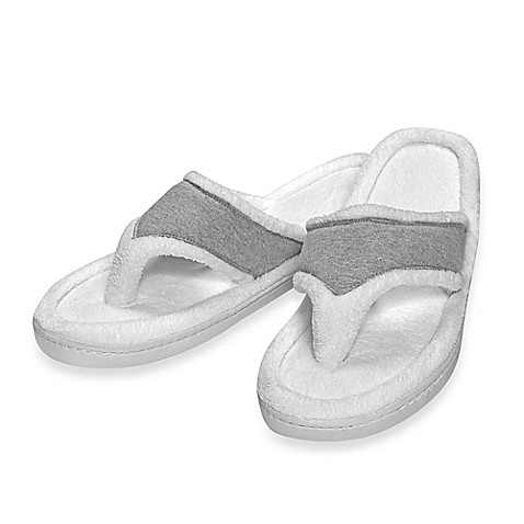Elizabeth Arden™ Ultimate Spa Memory Foam Slippers in Grey