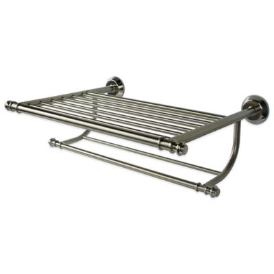 Buy Brushed Nickel Towel Shelf from Bed Bath & Beyond