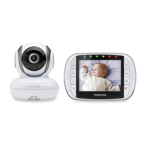 motorola mbp36s wireless enhanced 2 way audio baby monitor with 3 5 inch digital screen. Black Bedroom Furniture Sets. Home Design Ideas