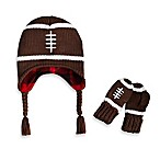 Rising Star Newborn Football Hat and Mitten Set