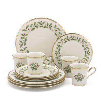 lenox holiday 12piece dinnerware set - Lenox Dinnerware