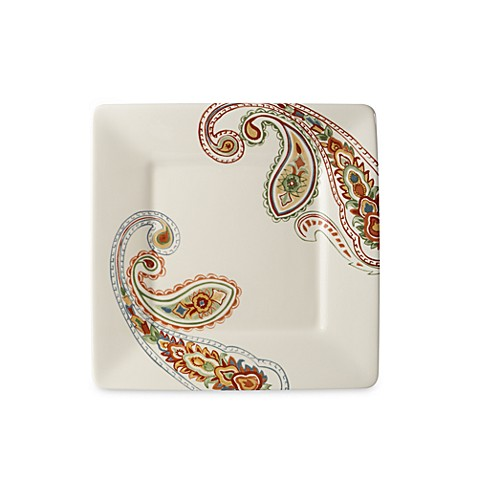 Misto Paisley Square 8-Inch Salad Plate