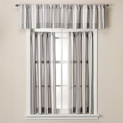 Lancaster 14 inch cotton bath window curtain valance bed for 14 inch window