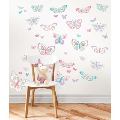 Flutterby Butterfly Wall Decal Kit