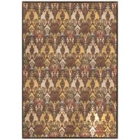 Radiance Ikat 6-Foot 6-Inch x 9-Foot 10-Inch Area Rug in Brown