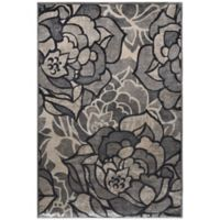 Radiance Floral 6-Foot 6-Inch x 9-Foot 10-Inch Area Rug in Light Grey