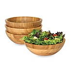 Lipper International Bamboo Salad Bowls (Set of 4)
