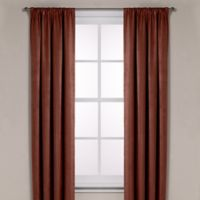 Diamond Texture Rod Pocket Room Darkening 95-Inch Window Curtain Panel in Rust