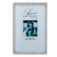 Lawrence Frames Metal Rope 4-Inch x 6-Inch Frame in Silver