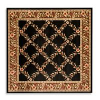 Safavieh Lyndhurst Collection Feodore 6-Foot 7-Inch Square Rug in Black and Brown