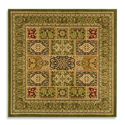 Safavieh Lyndhurst Collection 8 Foot X Square Patchwork Rug In Light Green