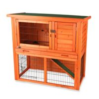 Trixie Natura Small 2-Story Sloped Roof Small Animal Hutch in Brown