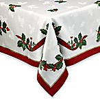 Holiday Ribbon Damask 60-Inch x 102-Inch Oblong Tablecloth