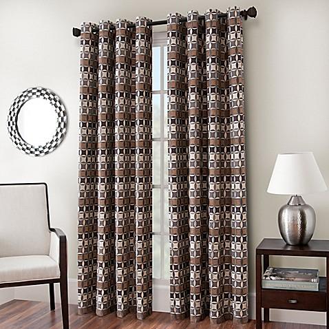 Cadence Chenille Jacquard Window Curtain Panel Bed Bath