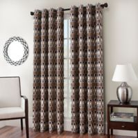 Cadence Chenille Jacquard 63-Inch Window Curtain Panel in Desert